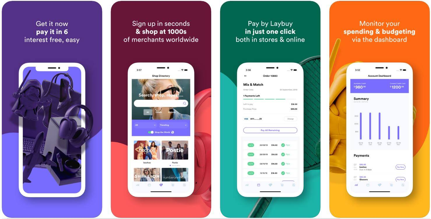 The Laybuy mobile app