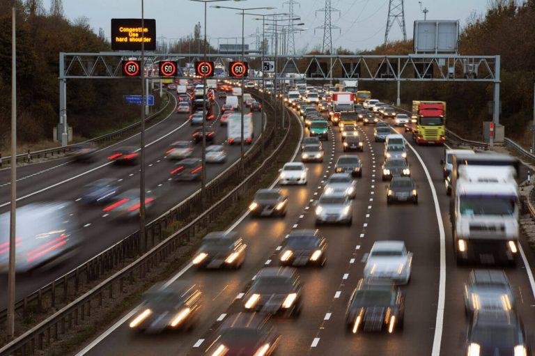 A smart motorway in the UK