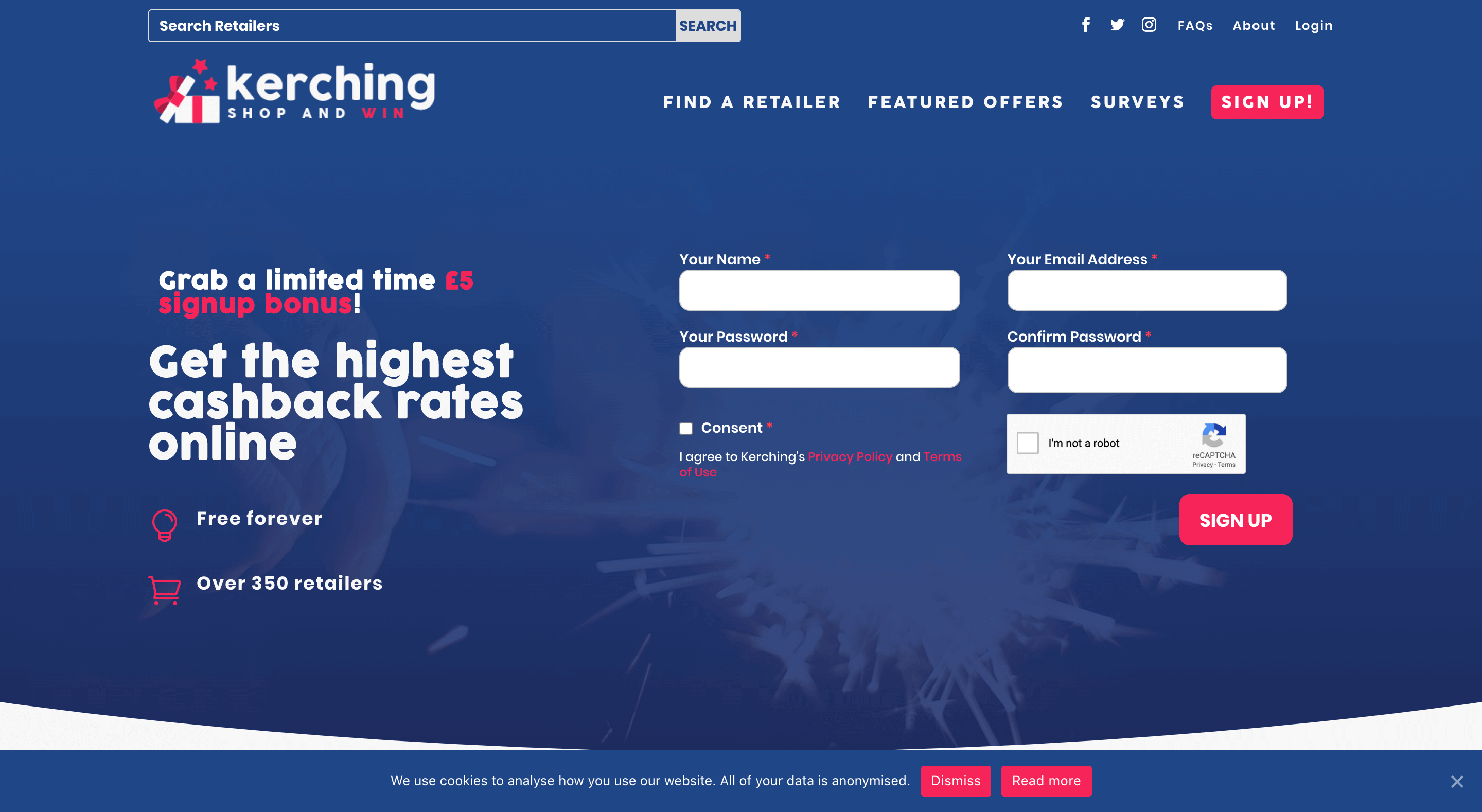 Kerching and Win website
