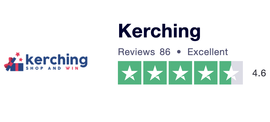 Kerching and Win Trustpilot rating