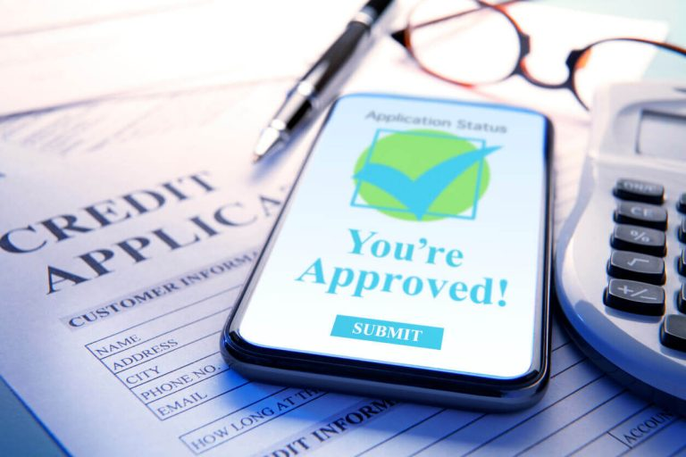 Credit card application form approved