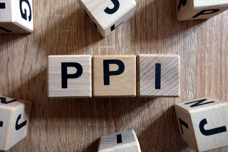 PPI letters on wooden blocks
