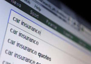 typing car insurance into a search engine