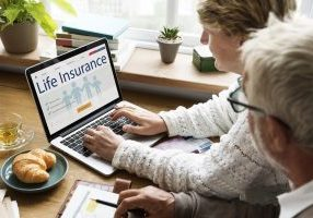 couple switching life insurance online
