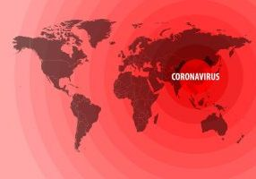 World map showing how Coronavirus has spread